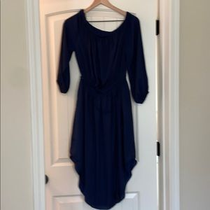Tie waist dress with pockets and lined